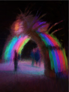 Archway outside center camp - Burning Man 2012